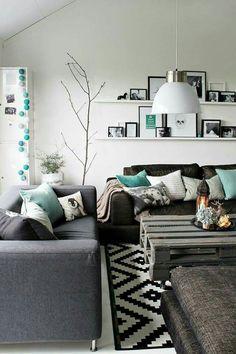 Decoracion en color turquesa