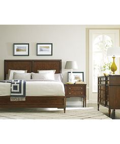 A refined, elevated Stanley Wood Bed keeps your bedroom simple and tranquil.
