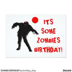 Gather guests with amazing birthday invitations from Zazzle! Huge options for any age. Birthday party invitations in a range of themes! Zombie Birthday Cakes, Zombie Birthday Parties, Birthday Party For Teens, Adult Halloween Party, 19 Birthday, Funny Birthday, Halloween Ideas, Birthday Ideas, Halloween Birthday Invitations