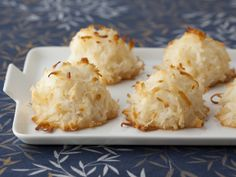 Coconut Macaroons from Ina Garten... Barefoot Contessa. Drizzle with Dark Chocolate!