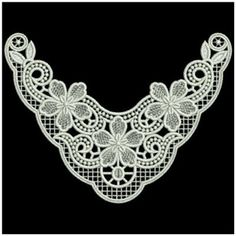Sweet Heirloom Embroidery Design: FSL FloralNeckline 4.88 inches H x 6.52 inches…