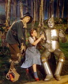 the wizard of oz scarecrow still | ... Dorothy Gale alongside the Scarecrow and Tin Man in 'The Wizard of Oz