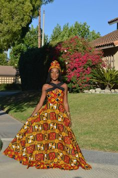 African maxi dress Ankara maxi dress African maxi by TrueFond