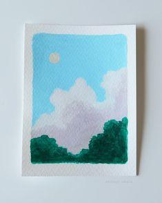 30 Easy Acrylic Painting Ideas Cute Canvas Paintings, Simple Acrylic Paintings, Mini Canvas Art, Acrylic Painting Canvas, Watercolor Art Lessons, Watercolor Paintings, Canvas Art Quotes, Art Anime, Art Graphique
