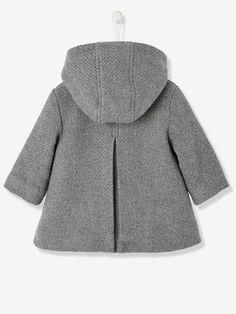 Abrigo para bebé niña de paño de lana - Azul oscuro liso+Gris jaspeado+Rosa - 6 Baby Girl Fashion, Kids Fashion, Baby F, Baby Coat, Doll Clothes, Kids Outfits, Fur Coat, Fashion Dresses, Gowns