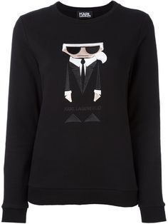 KARL LAGERFELD Embroidered Karl Sweatshirt. #karllagerfeld #cloth #sweatshirt