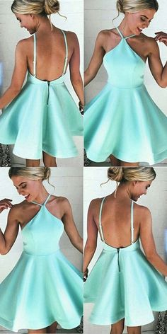 2017 Homecoming Dresses,Cute Dresses,Mint Homecoming Dresses,Short Homecoming Dress,Homecoming Dresses,Homecoming Dress,Short Dresses,Mint Dresses,Satin Dresses