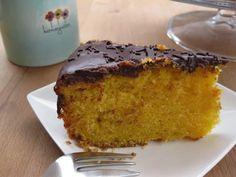 Bolo de Cenoura & Laranja com Cobertura de Chocolate   Receitas Para Todos os Gostos