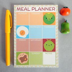 Are you interested in our meal planner notepad? With our magnetic meal planner you need look no further.
