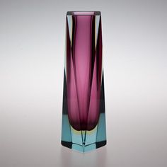 Talisman An Large Twisted Murano Sommerso Glass Vase -