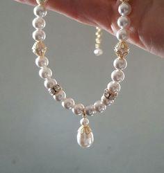 Classic Wedding Drop Necklace - vegan & cruelty-free.