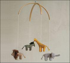 baby mobile jungle animals mobile safari mobile by Patricija Safari Nursery, Boho Nursery, Nursery Themes, Lion Nursery, Nursery Ideas, Baby Boy Nurseries, Baby Cribs, Lion Tigre, Mobile Safari