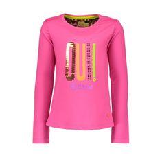 KIDZ-ART kinderkleding   KIDZ-ART - Tops AW17 - Kidz-art shirt lm OUI! pink 5413   Webshop samsamkinderkleding.nl