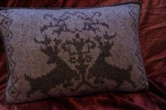 Ravelry: Winter Stags Pillow pattern by Mary Hancock-Richens