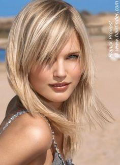 Peinados y Cortes para Mujer: Cortes de pelo Mediano para Rubias
