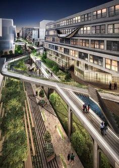 Seun city walk, Seunsangga, Seun, high line in Korea, 3d print landscape, urban planning, retrofit, factory rehab, seoul, greenwalk, elevated park, sustainable design, architecture, hipster, business evolution #sustainabledesign