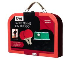 Lightweight but still chic, this portable table tennis set by Totes makes a good family gift. Use it later on vacations! $20;