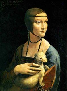 Lady with an Ermine, Leonardo da Vinci, 1489/1490, Czartoryski Museum, Krakow