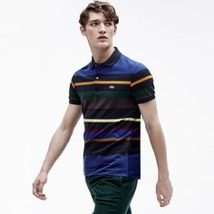 Lacoste regular Big fit striped polo