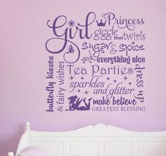 Definitions of a Girl Vinyl Decal Vinyl Wall Lettering Wall Quotes Girl Room Decor