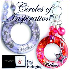 Circles of Inspiration ... 'Believe' pendant www.AnnaPereiraDesigns.com