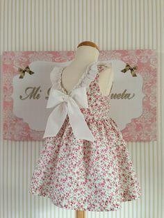 Pretty dress with bow on back. Toddler Fashion, Toddler Outfits, Kids Fashion, Outfits Niños, Kids Outfits, My Little Girl, My Baby Girl, Sewing For Kids, Baby Sewing