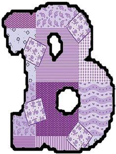Elaborei este alfabeto em patchwork e estou compartilhando.