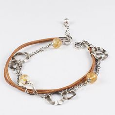 Sterling Silver Bracelet Citrine Bracelet by SylviaArtGallery