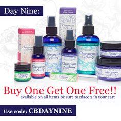 Day Nine: Buy One Get One Free! Use Promo Code: CBDAYNINE
