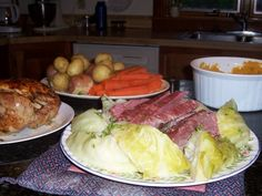 A Wicked Scoff.Newfoundland Food and Recipes with New England Influences: Jiggs Dinner Beef Recipes, Cooking Recipes, Healthy Recipes, Rock Recipes, Jigs Dinner, Newfoundland Recipes, Newfoundland Canada, Canadian Food, Canadian Recipes