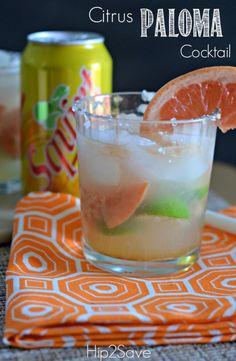 Citrus Paloma Cocktail Hip2Save