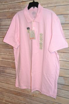 MENS LEGACY POLO GOLF SHIRT XL COLOR: PINK 2 BUTTON SHORT SLEEVE TENNIS TAIL #StJohnsBay #PoloRugby