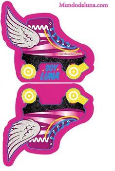 Imprimibles de soy luna gratis para descargar - invitaciones de soy luna para imprimir Roller Skating Party, Skate Party, Soy Luna Logo, 18th Birthday Cake, Birthday Parties, Soy Luna Cake, Kids Homework, Fondant, Hero Girl