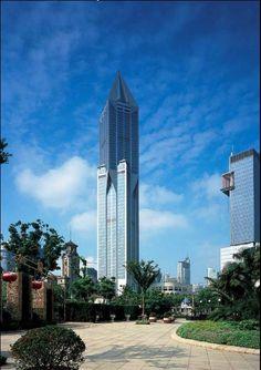 Shanghai's iconic skyscraper Tomorrow Square. The building was completed in 2003 and overlooks People's Square at a height of 285 meters. It currently accommodates the JW Marriott Shanghai. If you love architecture and a luxurious accommodation – find Shanghai's Tomorrow Square!