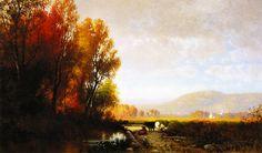 William M. Hart - An Autumn Effect - Morning,1863