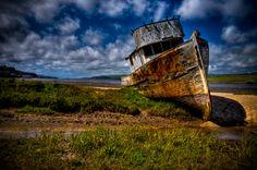 Abandoned boat in Pt. Reyes, CA.