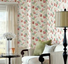 I love this sweet but sophisticated floral wallpaper pattern. Cottage Garden: Pattern Number CG97062