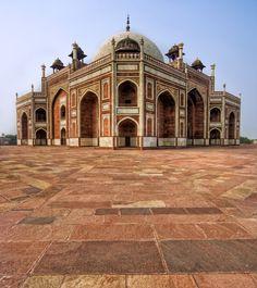 Mughal Architecture (Humayun's tomb). Delhi, India.