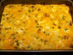 Low carb breakfast casserole - with jalapenos.