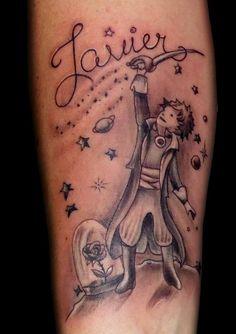 tatuaje tattoo el principito antebrazo lineal sombras 13depicas