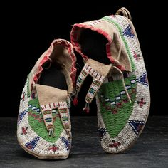 Sioux Beaded Hide Moccasins | Cowan's Auction House