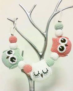 """151 Likes, 6 Comments - @mariavirkar on Instagram: """"En ugglemobil som snart ska skickas iväg.  #virka #crochet #virkat #crocheting…"""""""