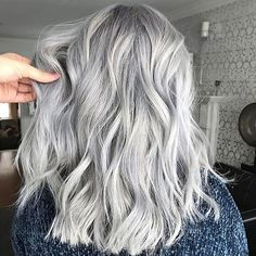 Platinum Perfection. Color by @hairbyac_alcorn  #hair #hairenvy #hairstyles #haircolor #silverhair #grayhair #platinumhair #newandnow #inspiration #maneinterest