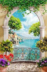 Балкон с выходом на море