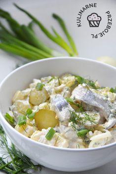 Śledzie po chłopsku Polish Recipes, Polish Food, Risotto, Potato Salad, Food And Drink, Cooking, Ethnic Recipes, Polish Christmas, Dinner Ideas