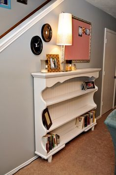 {DIY} Dresser Hutch Turned Sofa Table/Shelf Everything Sunny Always Furniture Projects, Furniture Making, Home Projects, Diy Furniture, Luxury Furniture, Dresser Furniture, Furniture Movers, Furniture Refinishing, Coaster Furniture