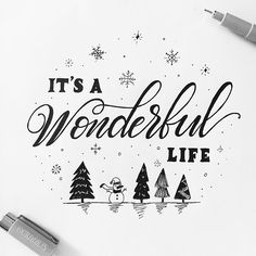 It's a wonderful life!!! ⛄️❄️✨ Day 12 of  #charmingchristmaslettering With @alissecourter and @squinks_art . . . #calligraphy #lettering #handlettering #handletteringnewbie #modernlettering #moderncalligraphy #dailylettering #letteringchallenge #dailychallenge #brushpen #goodtype #typespire #typegang #typography #typographyinspired #brushtype #type #handdrawn #handdrawntype #brushlettering #ink #handmade #handwritten