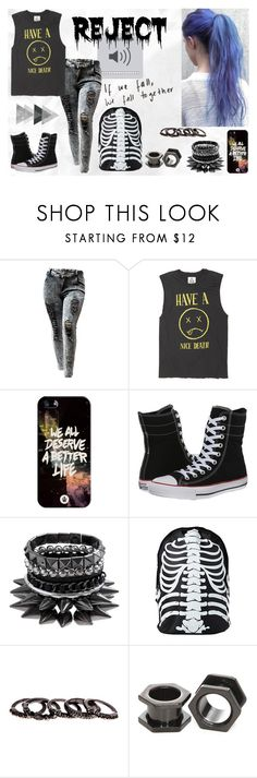 """American Idiot"" by ejoygnow ❤ liked on Polyvore featuring Casetify, Converse and Free Press"