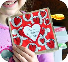 We're seriously obsessed with Valentine crafts this year! Today we made super easy paper bag books and filled them with little love notes ...