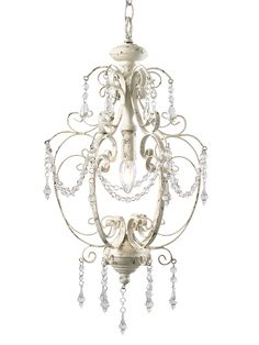 NEW Medium Juliet Chandelier - Antique White